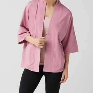 2X AnyBody Plus Mauve Topper Cardigan French Terry